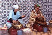 Argan Oil Being Produced in the Traditional Way